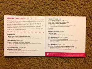 Inside of Information Card